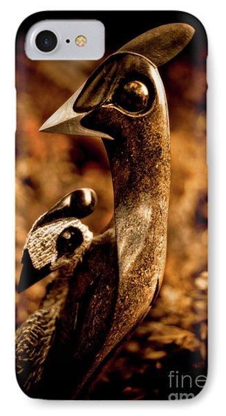 Caring Guineafowl IPhone Case by Venetta Archer