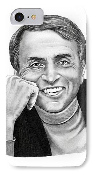 Carl Sagan Phone Case by Murphy Elliott