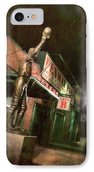 Carl Yastrzemski Statue - Fenway Park Boston IPhone Case by Joann Vitali