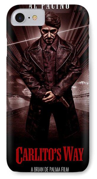 Carlito's Way Poster IPhone Case by David Djanbaz