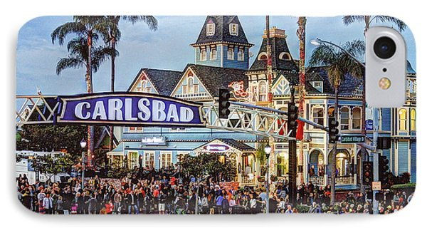 Carlsbad Village Sign IPhone Case by Ann Patterson