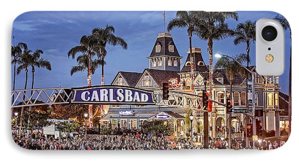 Carlsbad Village Sign Lighting IPhone Case by Ann Patterson
