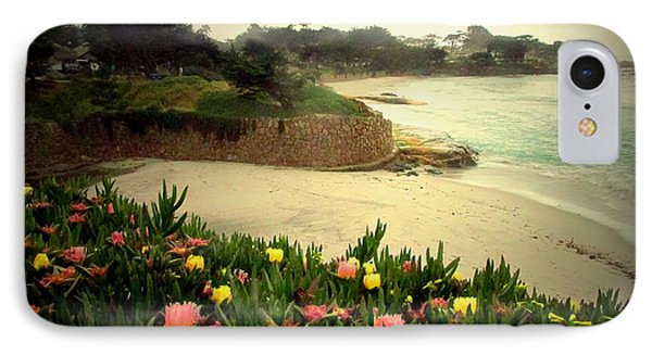 Carmel Beach And Iceplant IPhone Case by Joyce Dickens