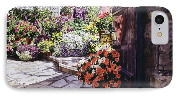 Carmel Garden Gate IPhone Case by David Lloyd Glover