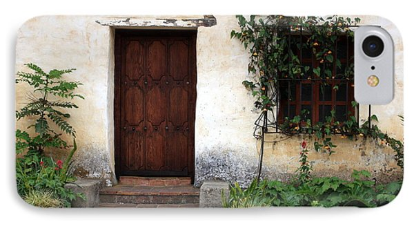 Carmel Mission Door IPhone Case by Carol Groenen
