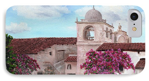 Carmel Mission In Spring IPhone Case