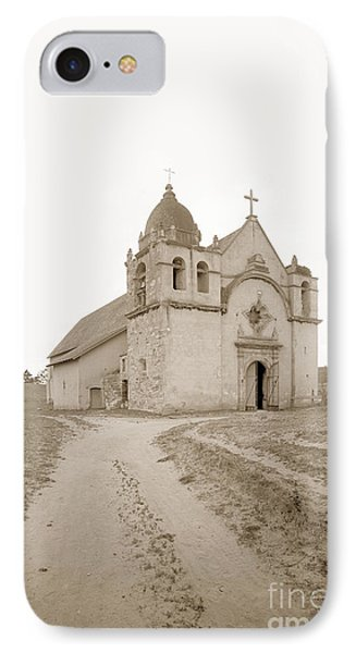 Carmel Mission South Side Circa 1915 IPhone Case by California Views Mr Pat Hathaway Archives