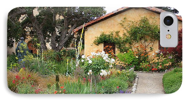 Carmel Mission With Path Phone Case by Carol Groenen