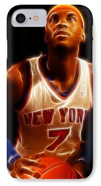 Carmelo Anthony - New York Nicks - Basketball - Mello IPhone Case by Lee Dos Santos