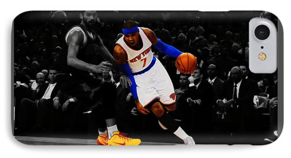 Carmelo Anthony IPhone Case by Brian Reaves