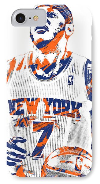 Carmelo Anthony New York Knicks Pixel Art 2 IPhone Case by Joe Hamilton