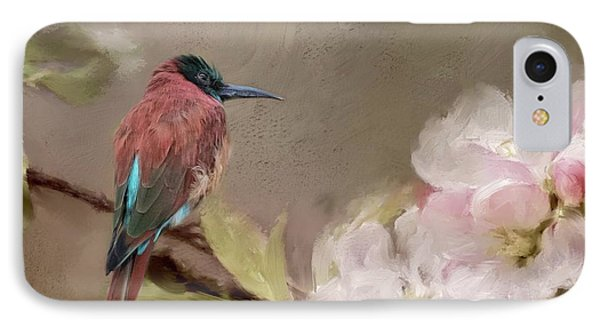 Carmine Bee-eater IPhone Case by Eva Lechner