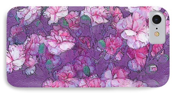 IPhone Case featuring the digital art Carnation Inspired Art by Barbara Tristan