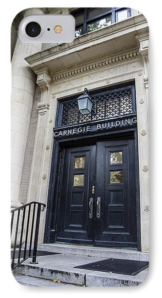 Carnegie Building Penn State  IPhone 7 Case by John McGraw