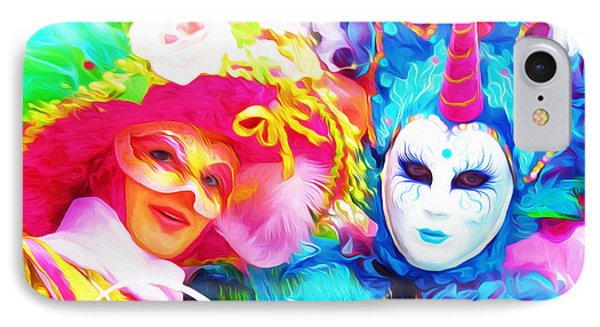 Carnevale Two IPhone Case by Jack Torcello