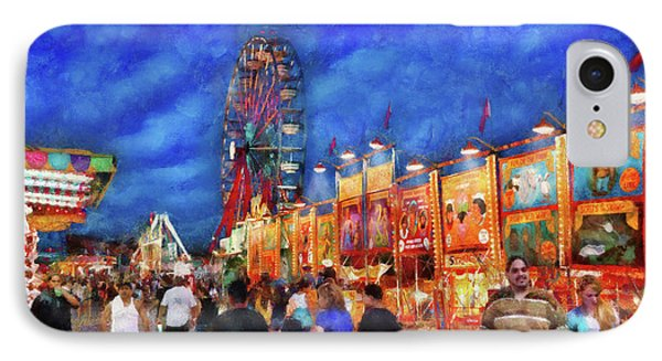 Carnival - The Carnival At Night Phone Case by Mike Savad