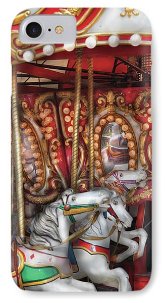 Carnival - The Carousel Phone Case by Mike Savad