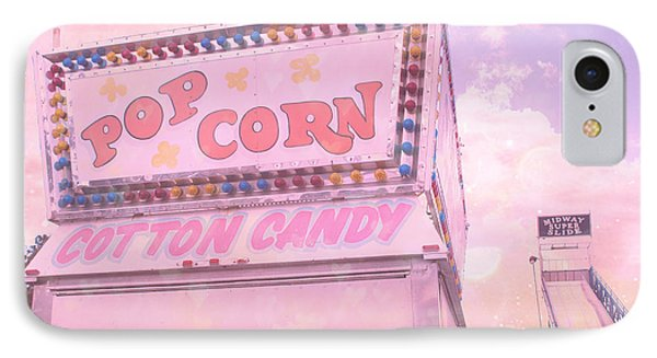 Carnival Festival Popcorn Cotton Candy Slide Fun IPhone Case by Kathy Fornal