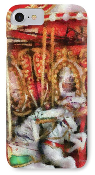 Carnival - The Carousel - Painted Phone Case by Mike Savad