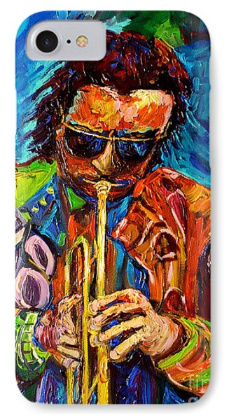 Carole Spandau Paints Miles Davis And Other Hot Jazz Portraits For You Phone Case by Carole Spandau