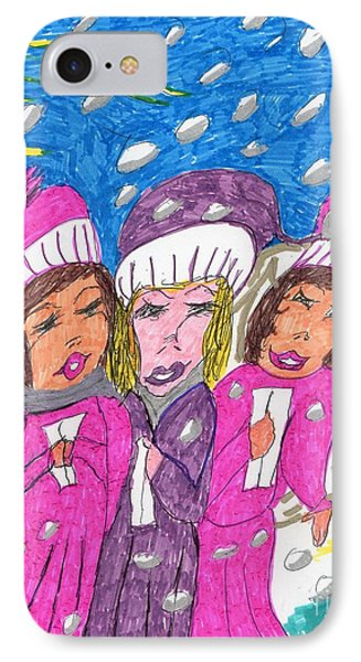 Angel Carolers On A Snowy Night IPhone Case
