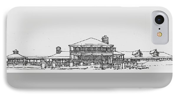 IPhone Case featuring the drawing Carolina Beach House by Andrew Drozdowicz