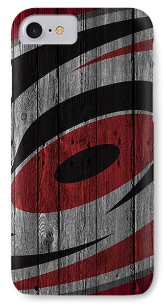 Carolina Hurricanes Wood Fence IPhone Case by Joe Hamilton