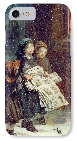 Carols For Sale  Phone Case by Augustus Edward Mulready