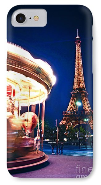Carousel And Eiffel Tower IPhone 7 Case