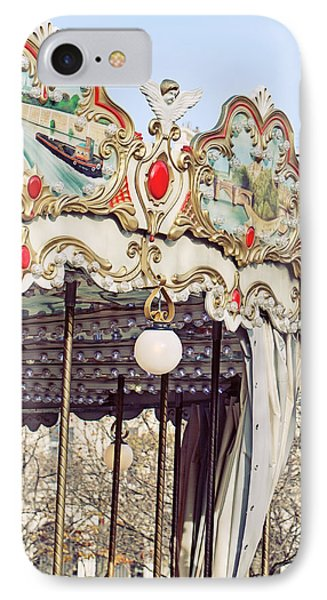 Carousel At The Tuileries - Paris, France IPhone Case by Melanie Alexandra Price