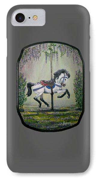 Carousel Garden The White Buckskin Stallion IPhone Case by Ruanna Sion Shadd a'Dann'l Yoder