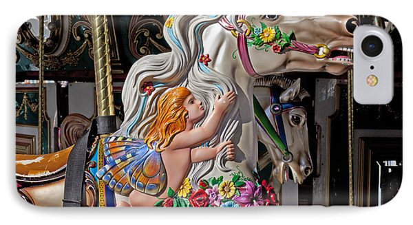 Carousel Horse And Angel IPhone Case by Garry Gay