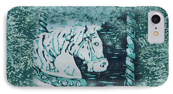 Carousel Horse Aquamarine IPhone Case by Lyndsey Hatchwell