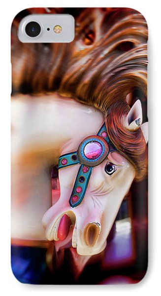 Carousel Horse Portrait Phone Case by Garry Gay