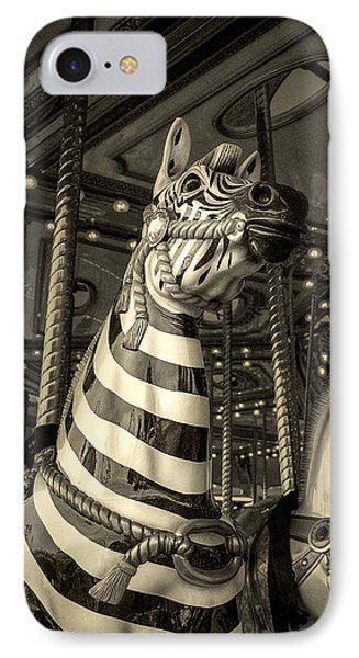 IPhone Case featuring the photograph Carousel Zebra by Caitlyn Grasso