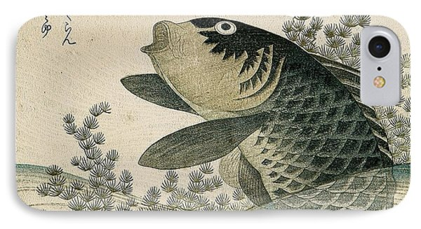 Carp Among Pond Plants IPhone 7 Case by Ryuryukyo Shinsai