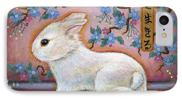 Carpe Diem Rabbit IPhone Case by Retta Stephenson