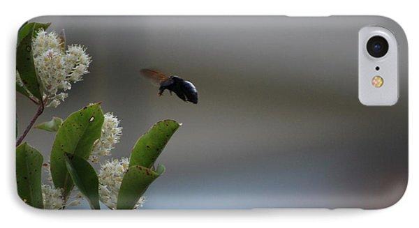 Carpenter Bee Landing Phone Case by Colleen Cornelius
