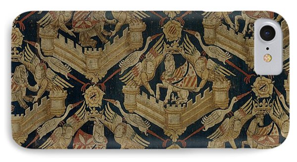 Textile Tapestry Carpet With The Arms Of Rogier De Beaufort IPhone Case