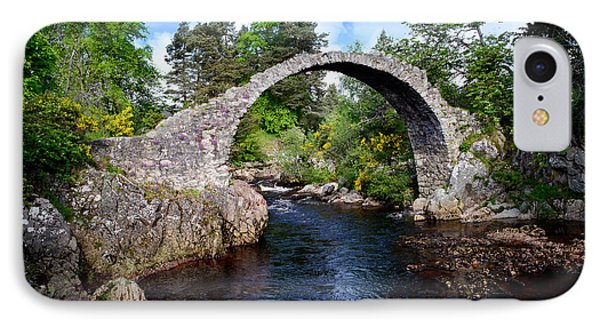 Carr Bridge Scotland IPhone Case by Don and Bonnie Fink