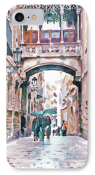 Carrer Del Bisbe - Barcelona IPhone Case by Marian Voicu