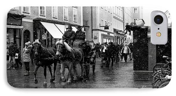 Carriage Ride Through Salzburg IPhone Case by John Rizzuto
