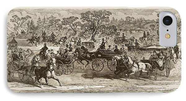 Carriages In Central Park New York In IPhone Case