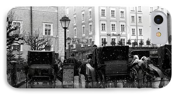Carriages In Salzburg IPhone Case by John Rizzuto