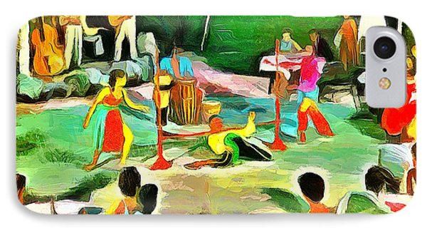 Carribean Scenes - Calypso And Limbo IPhone Case by Wayne Pascall
