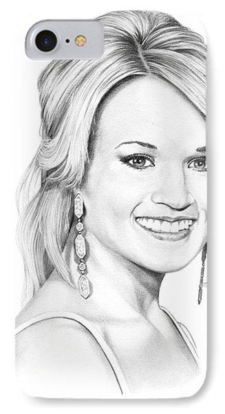 Carrie Underwood Phone Case by Murphy Elliott