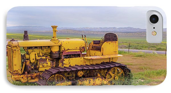 IPhone Case featuring the photograph Carrizo Plain Bulldozer by Marc Crumpler