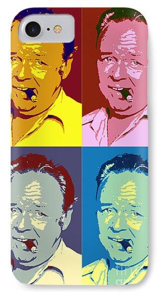 Carroll O'connor Pop Art Poster IPhone Case