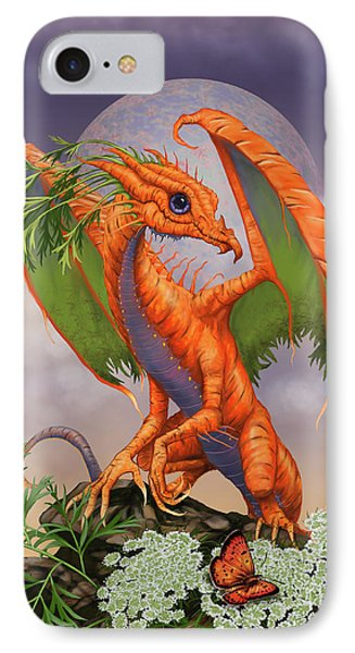 IPhone Case featuring the digital art Carrot Dragon by Stanley Morrison