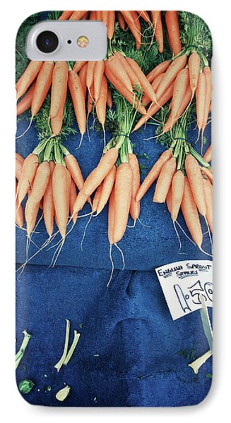Carrots At The Market IPhone Case by Tom Gowanlock